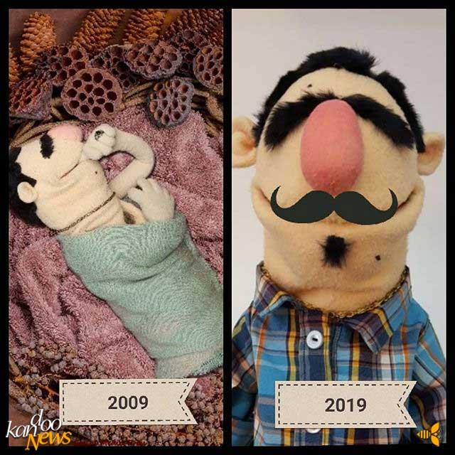 عروسک لقمه در چالش ۱۰ سال پیش