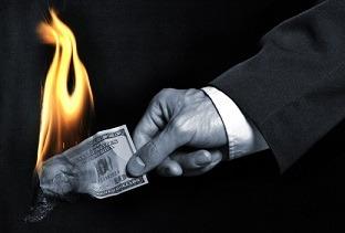 جریمه چالش فردی شخصی - آتش زدن پول